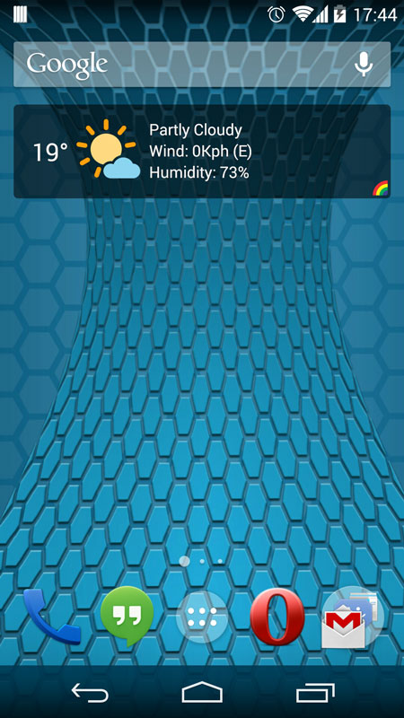 Widget 4x1 weather