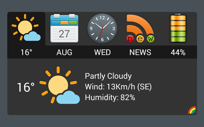 Info widget weather
